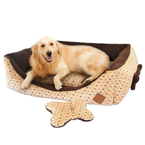 Cama Perro Grande Cuadradas Sofá Cómodo Cojin Perro Invierno Cesta Irrompible para Mascotas Gatos Perros Medianos