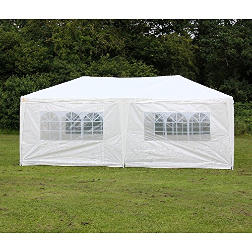 Palm Springs 10 X 20 White Party Tent Gazebo Canopy with (10x20 White Party Tent Gazebo)