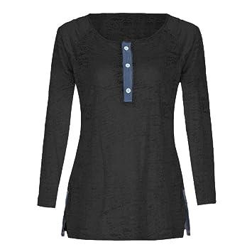 Niña otoño fashion fiesta,Sonnena ❤ Blusa de Patchwork suelta casual con botón Blusa. Pasa ...