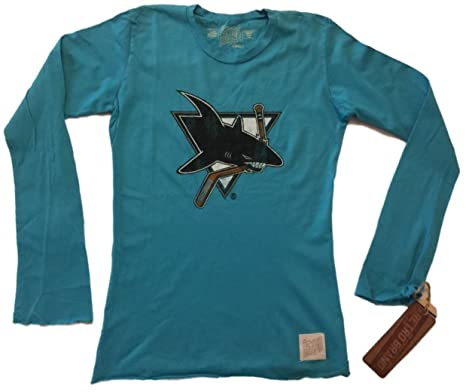 San Jose Sharks Retro Brand Women Teal Long Sleeve Cotton T-Shirt (XS) c0cf534dd