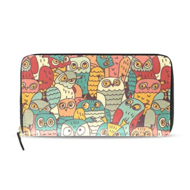 Character Animal Owl Clutch Wallet Bag Long Purse Print Cartoon Zipper Wallet For Women With Phone Holder Ladies Card Holder Purses & Wallets Kids & Baby's Bags