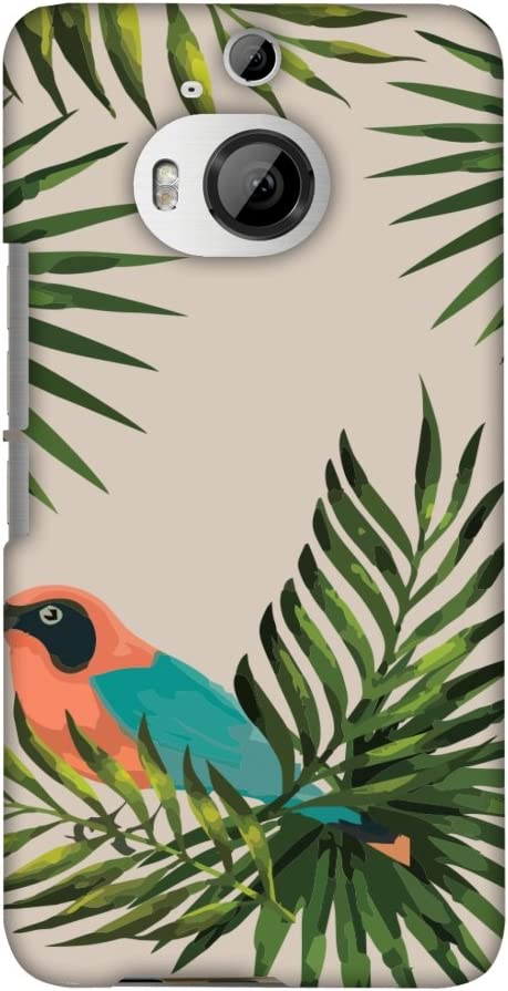 AMZER Slim Fit Handcrafted Designer Printed Snap On Hard Shell Case Back Cover for HTC One M9 Plus - Homely Nature - Sooty Pink HD Color, Ultra Light Back Case