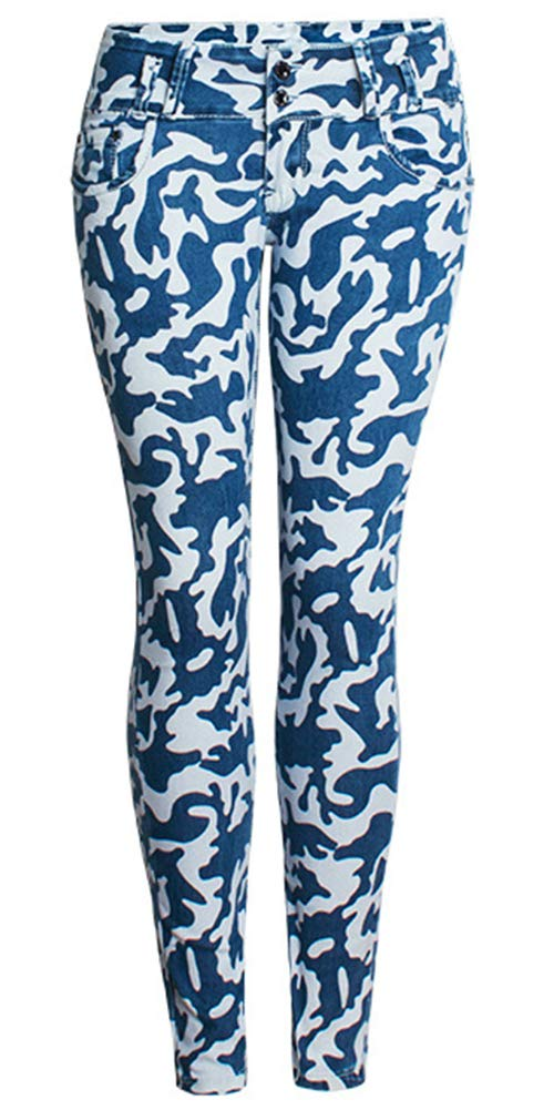 lexiart Camo Pants for Women Joggers Pants with Pockets Camoflauge Pants Leggings Blue M by lexiart
