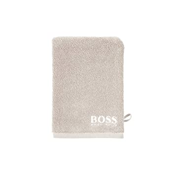 Hugo Boss Home manopla de baño Plain, algodón, Parchment, 15 x 21 cm: Amazon.es: Hogar