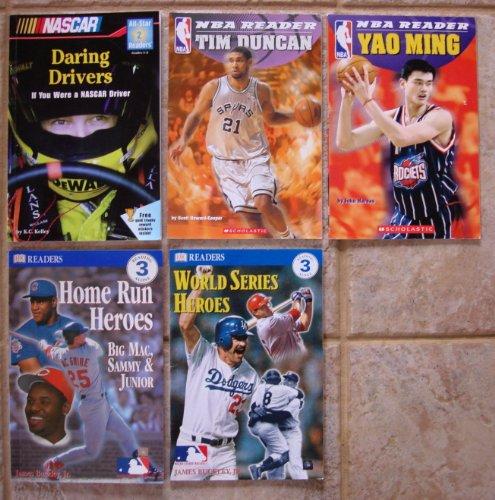 NBA, World Series, NASCAR Readers -- Basketball, Baseball, Racecar Driving (Tim Duncan (NBA) ~ Yao Ming (NBA) ~ World Series Heroes ~ Home Run Heroes: Big Mac, Sammy & Junior (Mark McGwire, Sammy Sosa, and Ken Griffey, Jr.) ~ Daring Drivers: If You Were a NASCAR Driver) ()