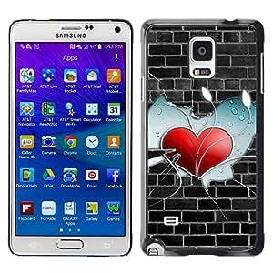 Paccase / SLIM PC / Aliminium Casa Carcasa Funda Case Cover - Wall Heart - Samsung Galaxy Note 4 SM-N910F SM-N910K SM-N910C SM-N910W8 SM-N910U SM-N910