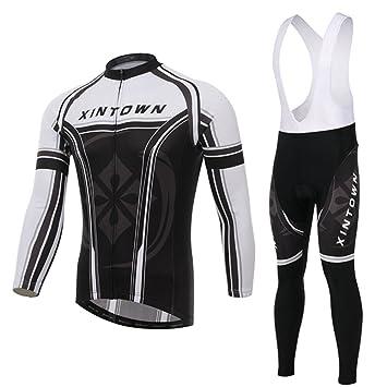 Amazon.com: xinzechen tela polar térmico ciclismo Jersey ...
