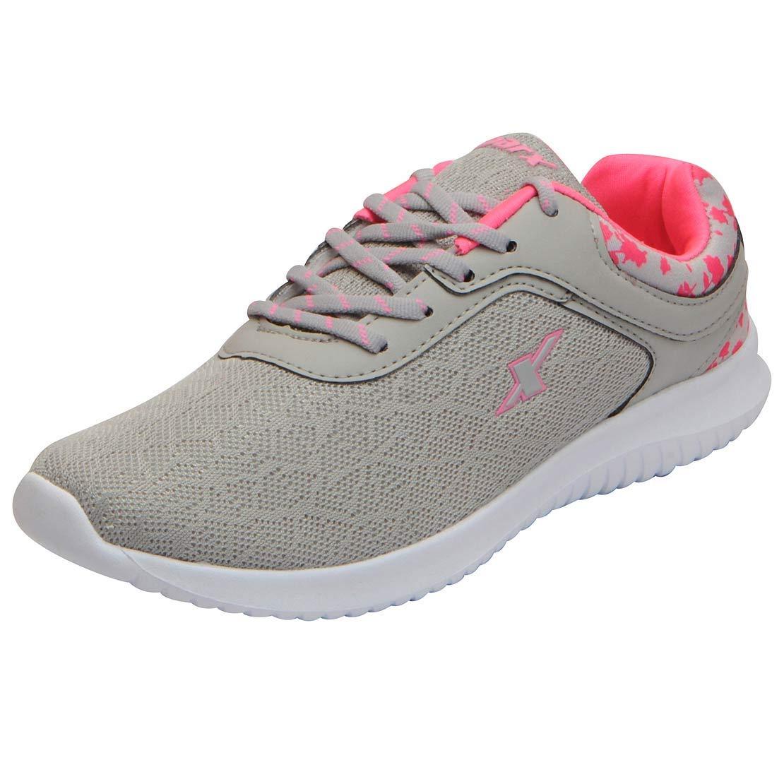 Sparx Women's Grey Pink Running Shoes