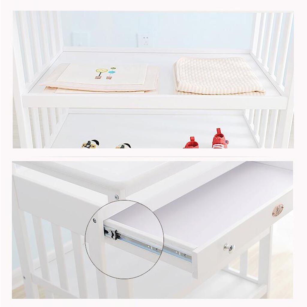 carico 30 kg in legno massello con supporto per cassetto multifunzione Fasciatoio per neonati supporto per doccia da massaggio colore : Brown