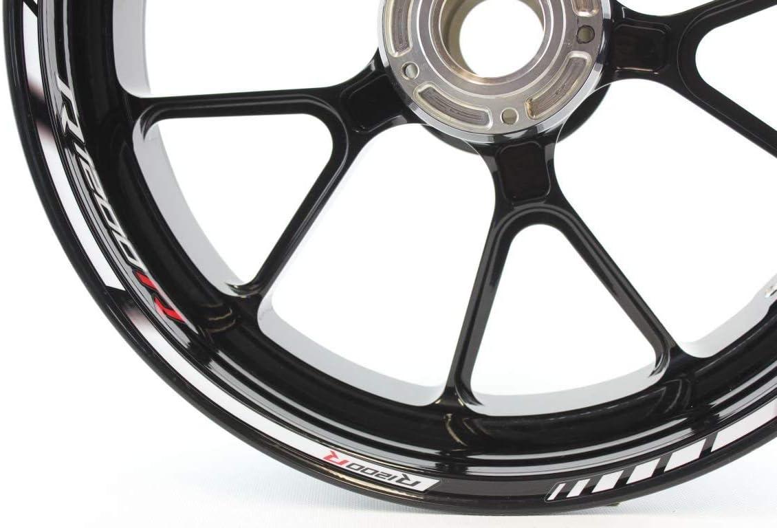 IMPRESSIATA Motosticker Kompatibel f/ür Motorrad Felgenaufkleber SpecialGP Wei/ß Komplett Aufkleber Aufkleber BMW R1200R