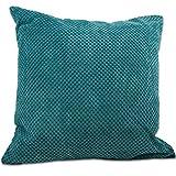 "CHENILLE CUSHIONS & THROWS Super Soft Throw Blankets, Small Large Cushion Covers Teal Cushion Cover 22"""" x 22"""""