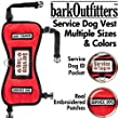 """barkOufitters Service Dog Vest Harness - Available in 4 Colors and 5 Sizes (Red, 25"""" - 30"""" Girth)"""