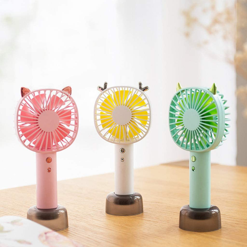 Philoween Handheld Mini USB Rechargeable Fan Builtin Battery Portable Desktop Table Cooler Summer Personal Desk Fan for Office Home Travel
