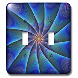 3dRose David Zydd - Colorful Abstract Designs - Path to Meditation - blue colorful fractal design - Light Switch Covers - double toggle switch (lsp_286803_2)