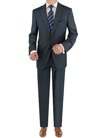 515b1f0dbe6e86 LN LUCIANO NATAZZI Italian Men's Suit 180'S Cashmere Wool Ticket Pocket  Stripe (38 Short US