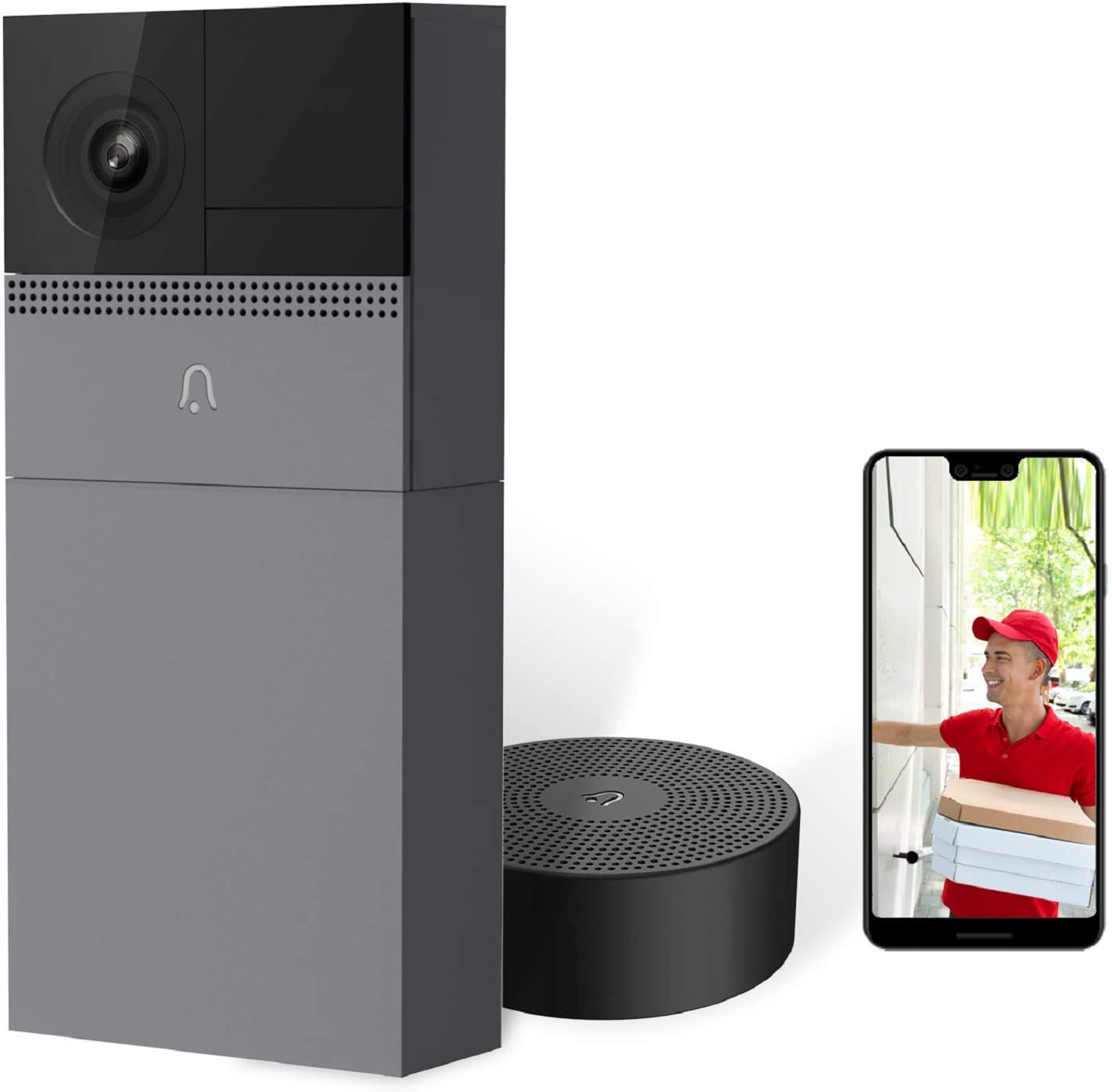 Wireless Security Video Doorbell with Camera, B1 Smart WIFI Door Bell with Motion Detector, Compatible with Alexa, Night Vision, IP65 Waterproof,USB Indoor Wireless Chime Included