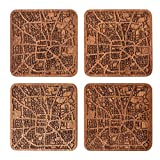 Houston Map Coaster by O3 Design Studio, Set Of