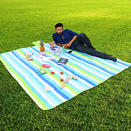 """Large Beach Blankets: WolfWise 79"""" X 79"""" Large Outdoor"""