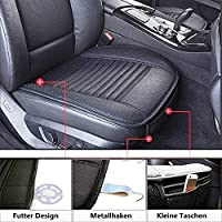2x Auto Sitzauflage Sitzbezug Sitzschoner Sitzschutz Vordersitz Auflage PU-Leder