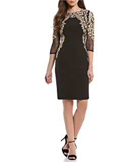 5b8106e765d Antonio Melani Gwen Sequin Mesh Sheath Dress at Amazon Women s ...