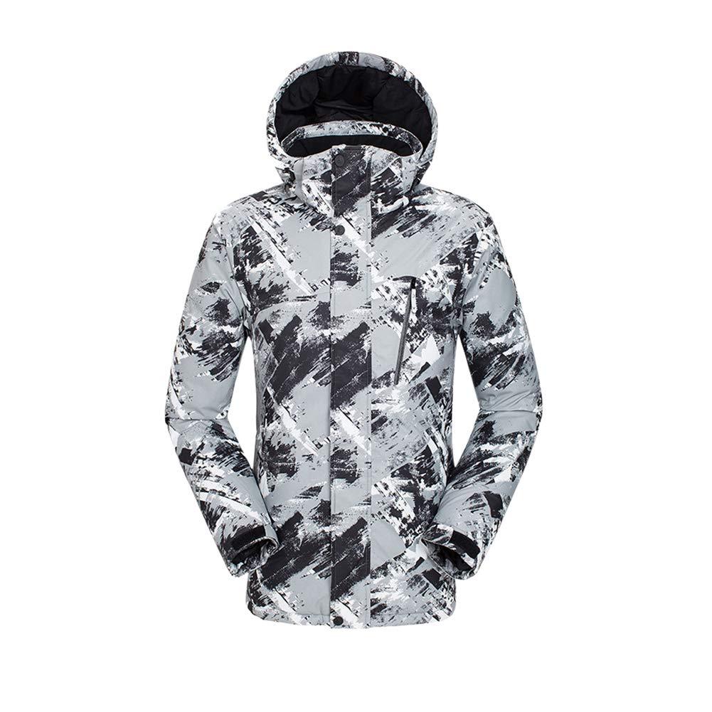Texture Noire Tag S = EU US UK AUS MEX XS Hzjundasi Veste de Ski Homme - Blousons Imperméables Coupe-Vent, Hiver Chaud Snowboard Pluie Manteau de Neige