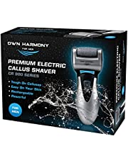 Rechargeable Electric Callus Remover and Shaver - Foot File CR900 by Own Harmony (Tested Most Powerful) Best Pedicure Tools - Professional Spa Electronic Micro Pedi Health Feet Care