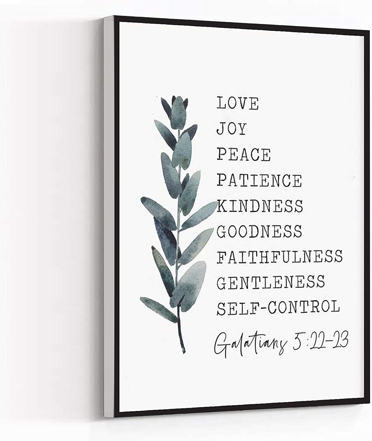 Kitchen Wall Decor,Room Decorations,Fruit of the Spirit Wall Art Printable,Fruit of the Spirit Sign,Bible Verse Sign,Farmhouse Wall Decor,Galatians 5 22 Christian gifts,16''x24'' Framed