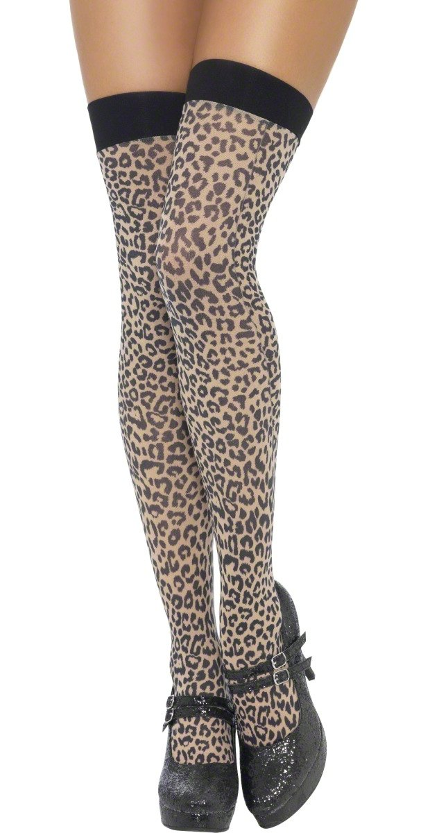 304bdffeac7f Amazon.com  Smiffys Sexy Leopard Animal Print Adult Thigh High Stockings   Health   Personal Care