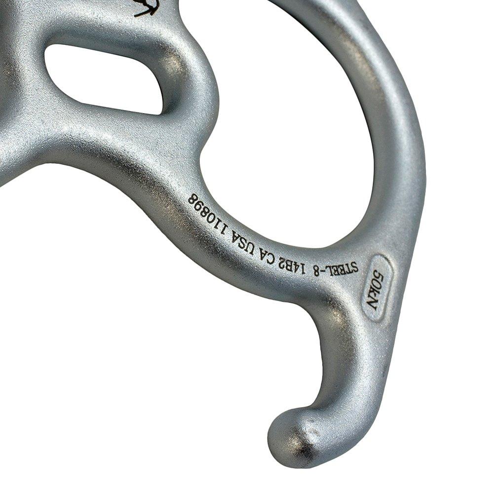 Silver Steel Fusion Climb FP-8145-STEEL Kura Steel Heavy Duty Climing Descender One Size