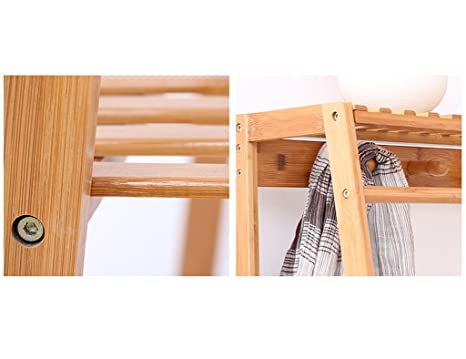 Amazon.com: Coat Rack Floor Type Solid Wood Hangers Bedroom ...