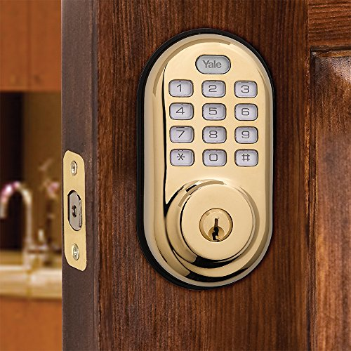 Yale Real Living Keyless Push Button Z Wave Deadbolt