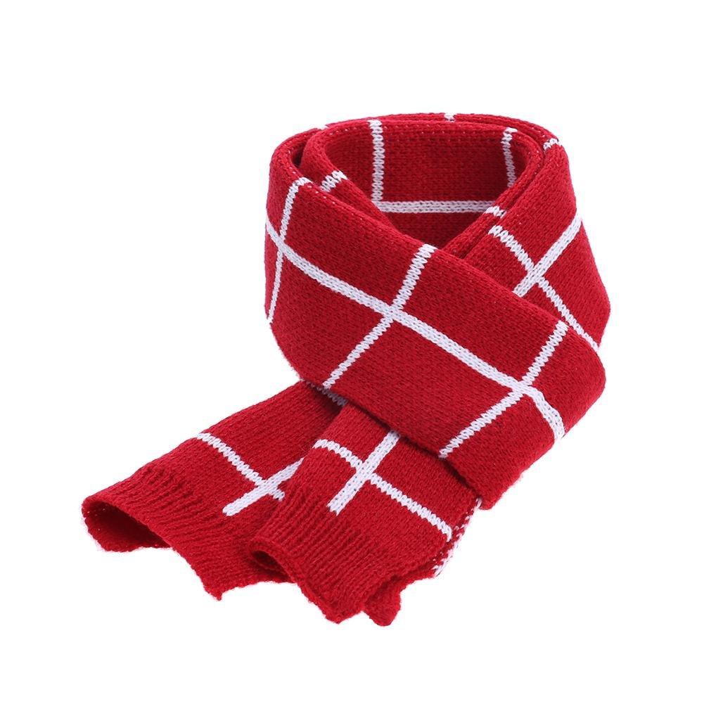 Baby Scarf, amazingdeal Boys Girls Plain Thicken British-style Warm Winter Scarves(Red)