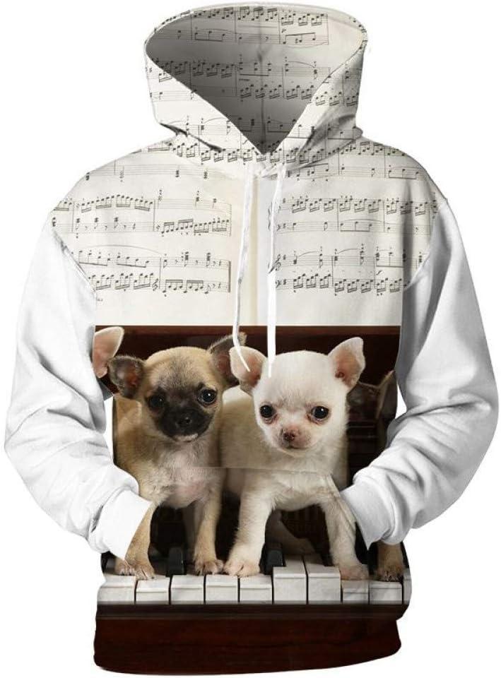 BAI Aassdd Sweatshirts Herren 3D Sweatshirts Anime Musik Zeichen Piano Hoodies Hooded Men Lovely Sweatshirt Hoodies Trainingsanzüge,M *** L