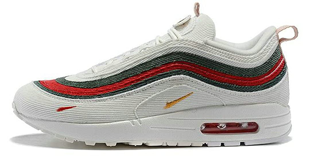Sean Wotherspoon x Air Max 97 1 97 VF SW Hybrid White Red Green Mens Womens  Running Shoes  Amazon.co.uk  Shoes   Bags 9bbd0e67d