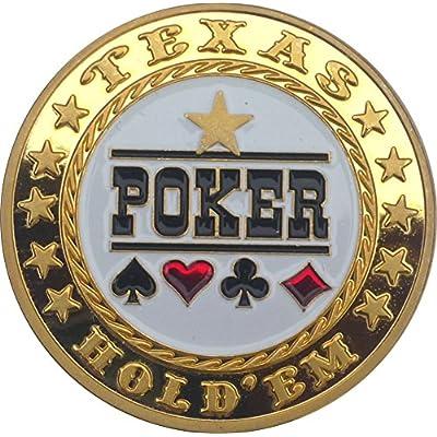 """'Poker Card Guard """"Poker en plaqué or"""