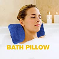 Home Spa Bath Pillow, Sunfresh Super Soft Bath Pillow Non-slip Semi-Soft Bathtub Spa Pillow