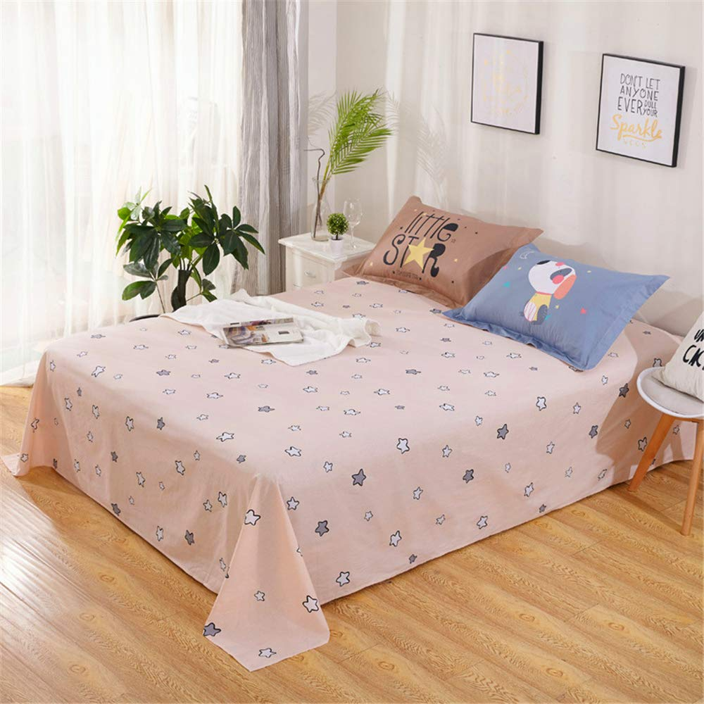 Bedding Items Cotton semi-Active Sheets Simple Style Right Angle Rounded Corners Soft and Comfortable Smooth and Smooth Simple Atmosphere Looking Through The Autumn Water 230250cm by iangbaoyo