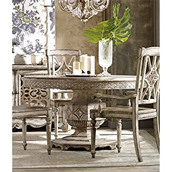 Hooker Chatelet Round Extendable Dining Table In Vintage White