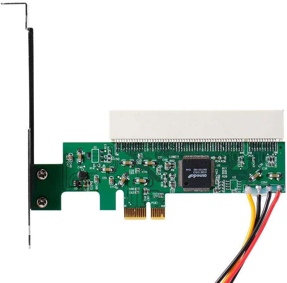 XZANTE PCI-Express A PCI Tarjeta Adaptador PCI-E X1//X4//X8//X16 Ranura con Tarjeta De Cable De Potencia De 4 Pines