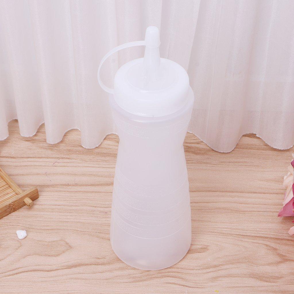 SimpleLife - Dispenser per spezie, in plastica, per Olio e aceto, 25 x 7,5 cm, Colore: Bianco
