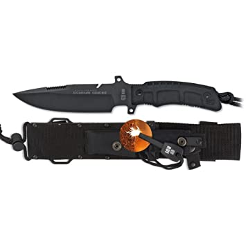 Amazon.com: Cuchillo de hoja fija K25 táctico mango SFL ...