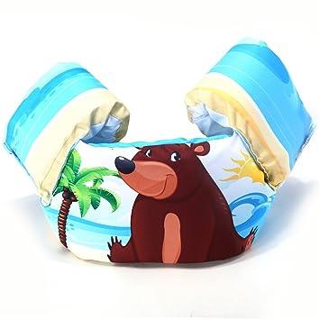 FuweiEncore Chaleco Salvavidas Infantil Brazalete Flotador Hinchable pañal para baño – Chaqueta de natación para Piscina