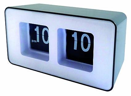 Orium 11426 - Reloj digital de mesa, diseño moderno, colores negro y blanco