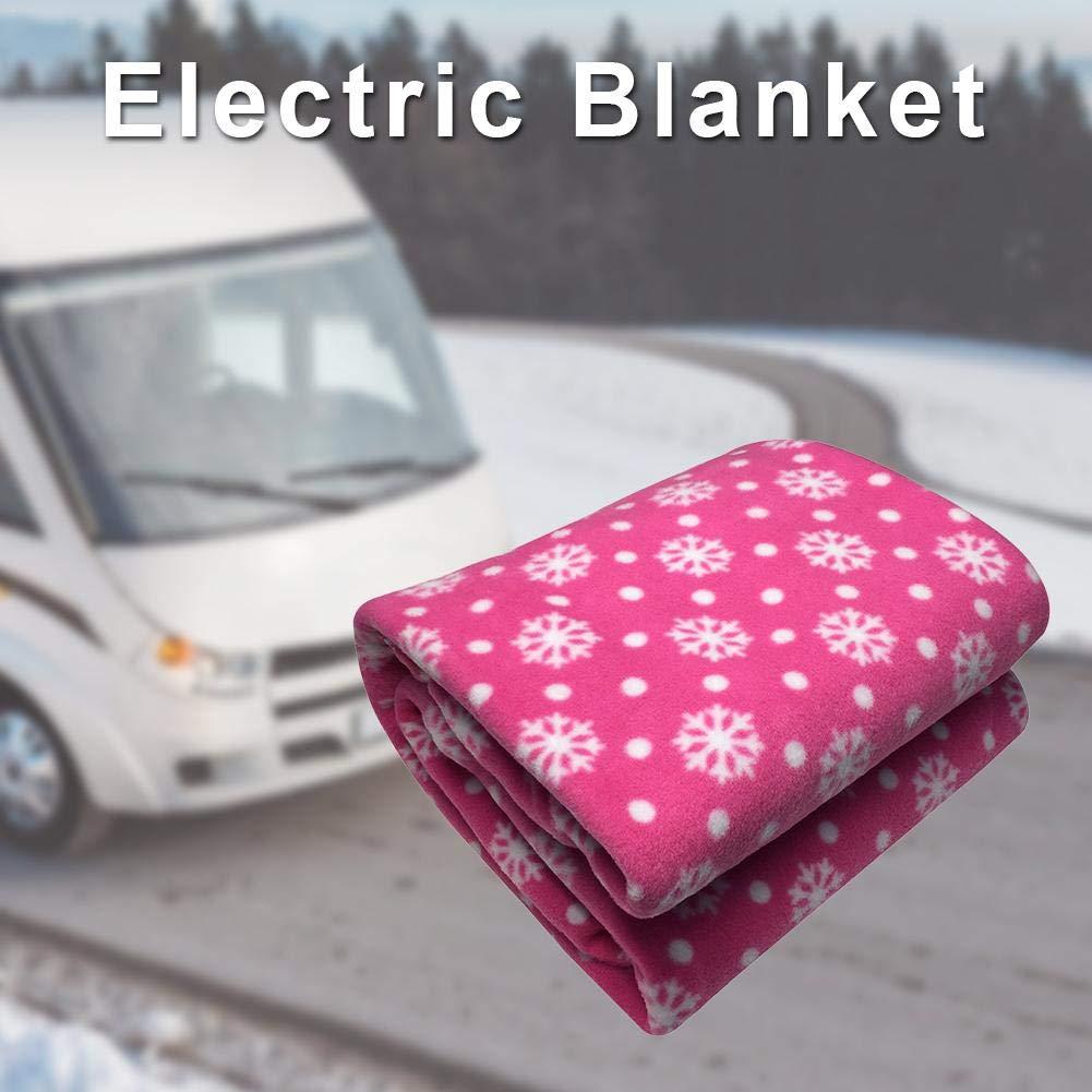 12V riscaldata Viaggi Carino Coperta Coperta Calda per Automobili Camion e Camper per Cold Weather Viaggiare Mississ Coperta Auto elettrica Riscaldamento