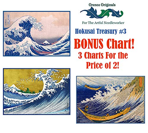 - Asian Hokusai Deluxe Treasury#3-3 Counted Cross Stitch Patterns Charts