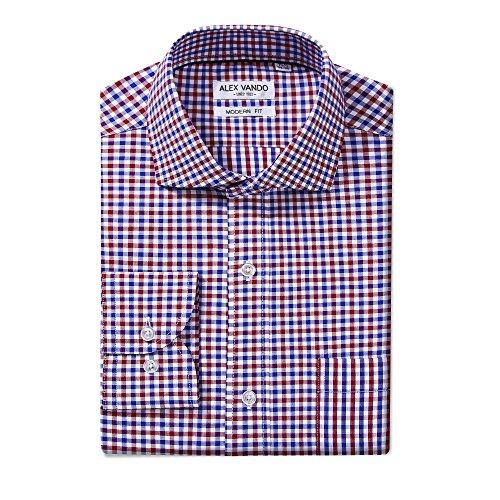 c4539be4b6b Joey CV Mens Long Sleeve Dress Shirts Cotton Casual Regular Fit Shirt