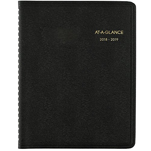 Acco Planner Brands (AT-A-GLANCE 2018-2019 Academic Year Monthly Planner, Medium, 6-7/8 x 8-3/4, Black (7012705))