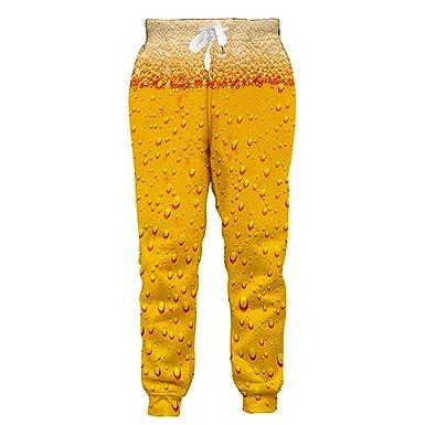 Pantalones de chándal de impresión de Cerveza para Hombre Joggers ...