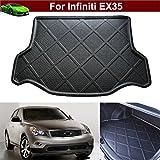 1pcs Black Color Car Boot Pad Carpet Trunk Cargo Liner Floor Mat Molded Cargo Tray Custom Fit For Infiniti EX35 2008-2016