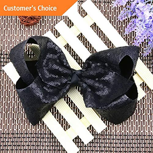 Werrox Baby Girl Hairpin Bowknot 8 Sequins Rainbow Bows Large Rib Hair Accessories | Model HRPN - 1255 |